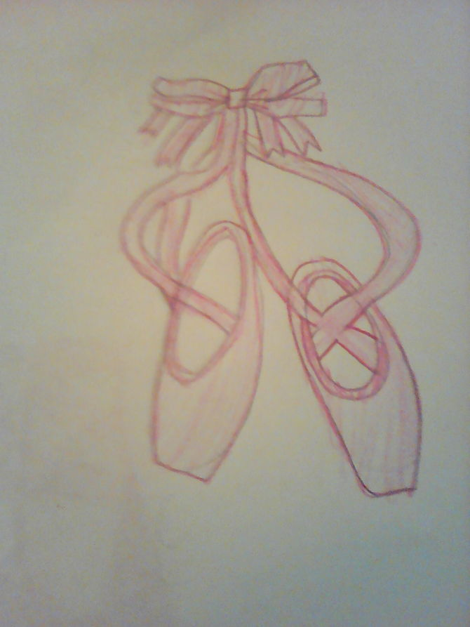 670x893 2 Easy Ways To Draw Ballet Slippers (With Pictures)
