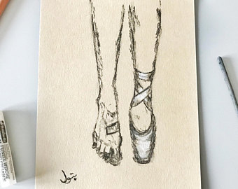340x270 Ballerina Illustration. Ballerina Drawing. Ballet Dancer