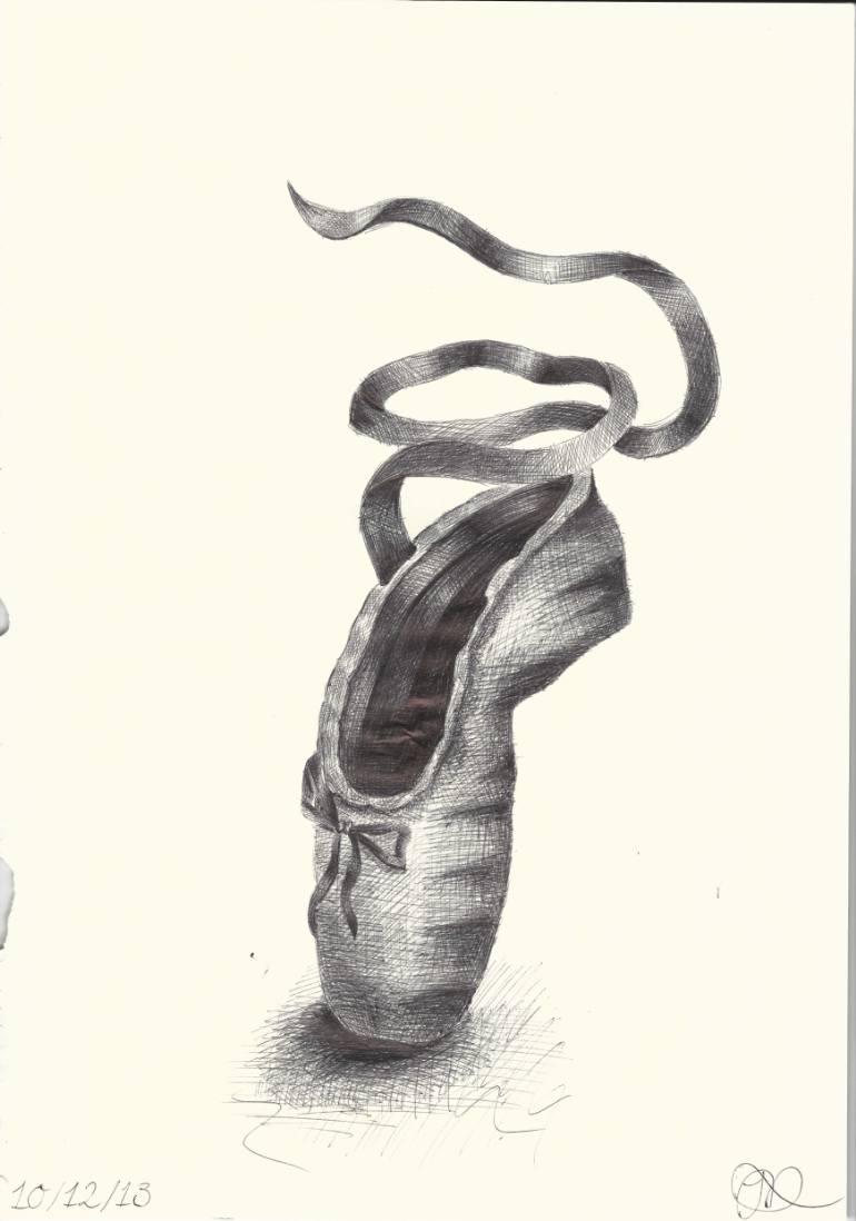 770x1098 Saatchi Art Biro Ballet Pointe Shoe. Drawing By Jack Dempsey