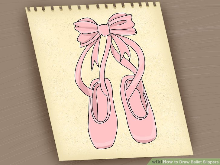 728x546 2 Easy Ways To Draw Ballet Slippers (With Pictures)