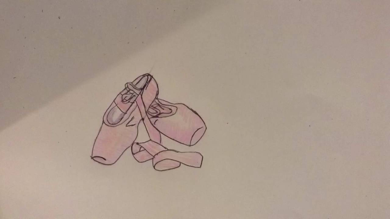 1280x720 How To Draw Ballet Shoes