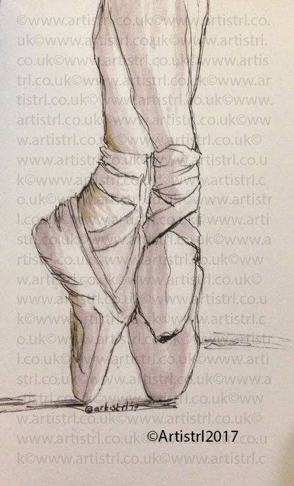 426x703 Pen And Paint Ballet Shoes Sketch Commish Artify! An Online