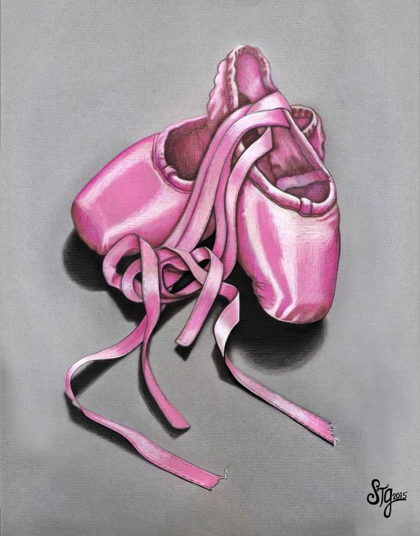 600x765 Pink Ballet Slippers By Everiris