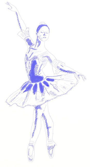 350x648 How To Draw A Ballerina, Step 6 Art Techniques