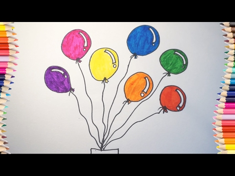 480x360 How To Draw Balloon For Kids
