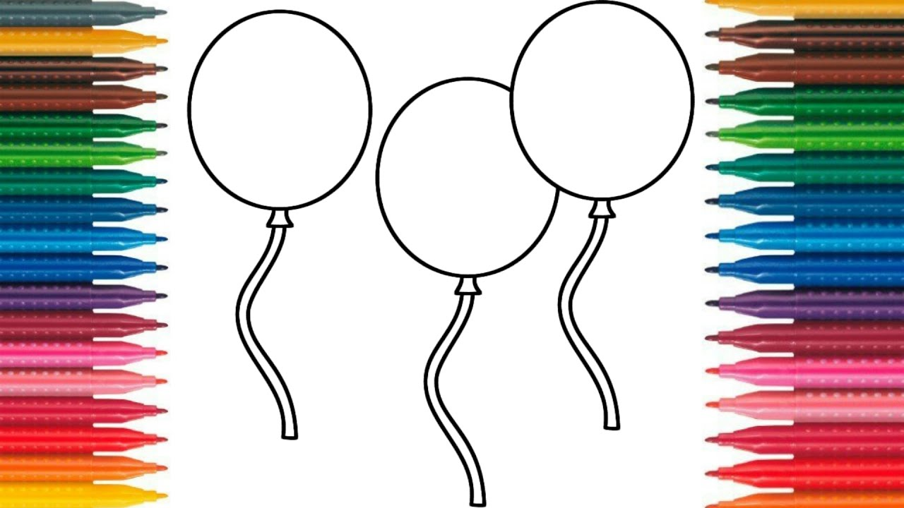 1280x720 Drawing Balloons Learn How To Draw Balloons Colors Picture