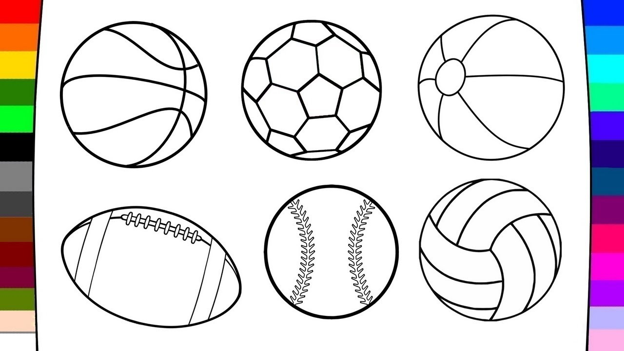 1280x720 How To Draw Match Balls Art Of Coloring For Children