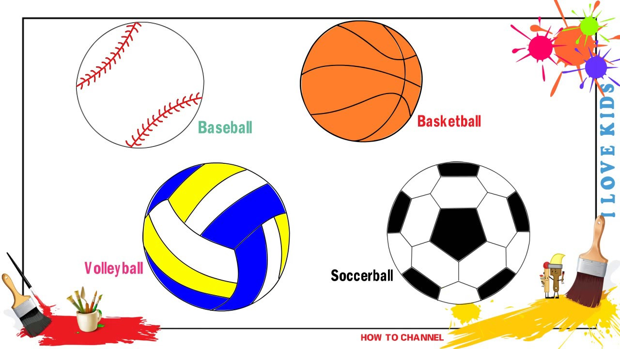 1280x720 How To Draw Balls Easy Amp Simple Step By Step For Kids