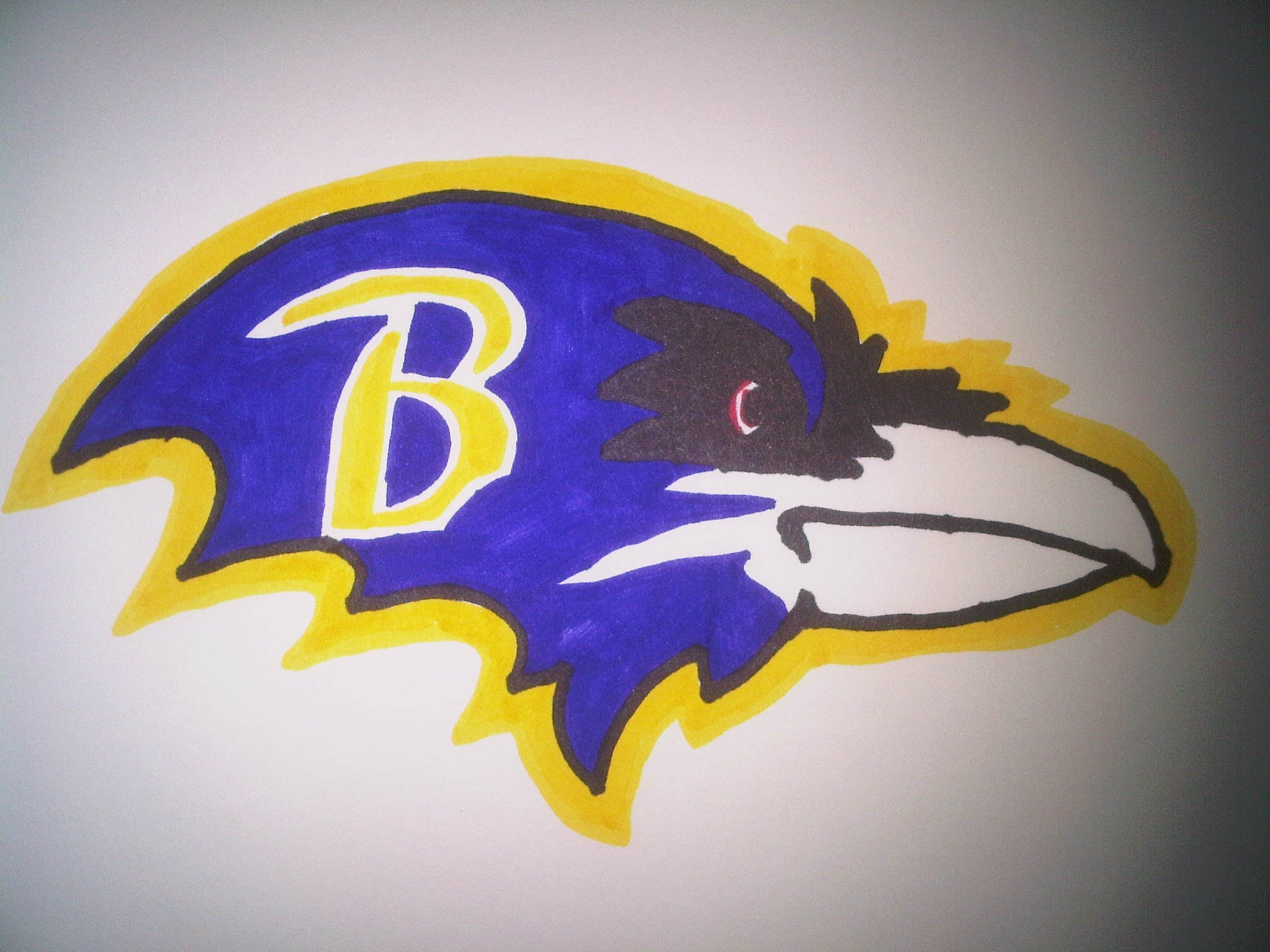 2048x1536 How To Draw The Baltimore Ravens Logo