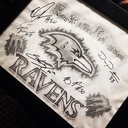 417x417 Signed Ravens Drawing