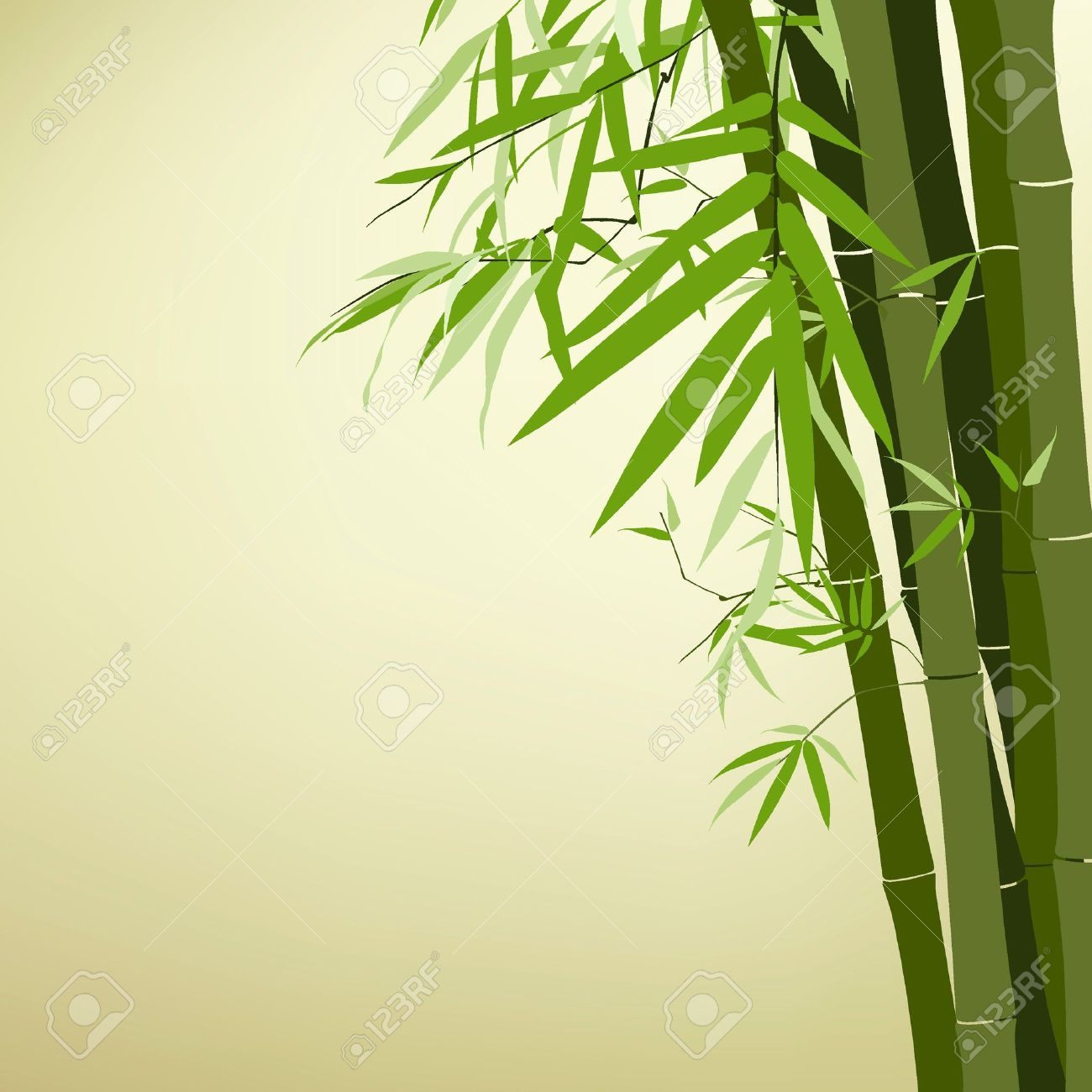 1300x1300 Chinese Bamboo Tree Drawing