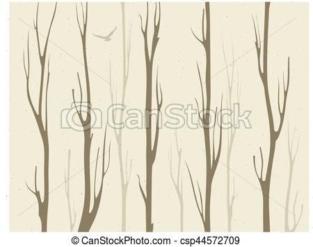 450x355 Dry Branches Of Bamboo Trees With Bird Vector Clipart