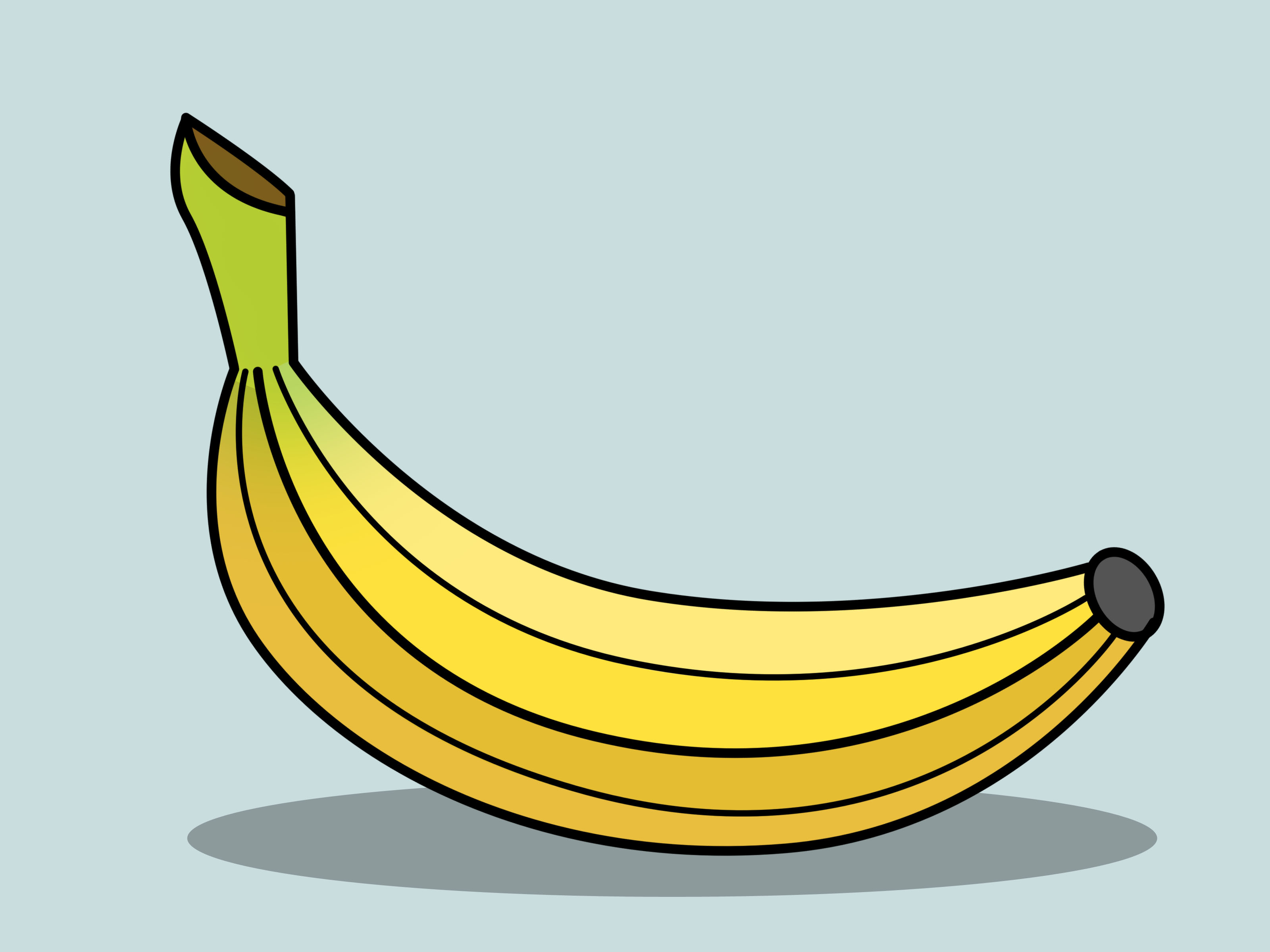 3200x2400 How To Draw A Banana 14 Steps (With Pictures)