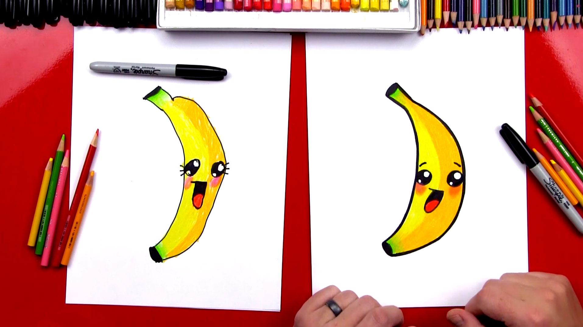 1914x1074 How To Draw A Cartoon Banana