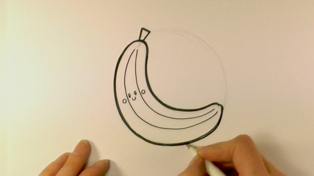 1280x720 How To Draw A Cartoon Banana