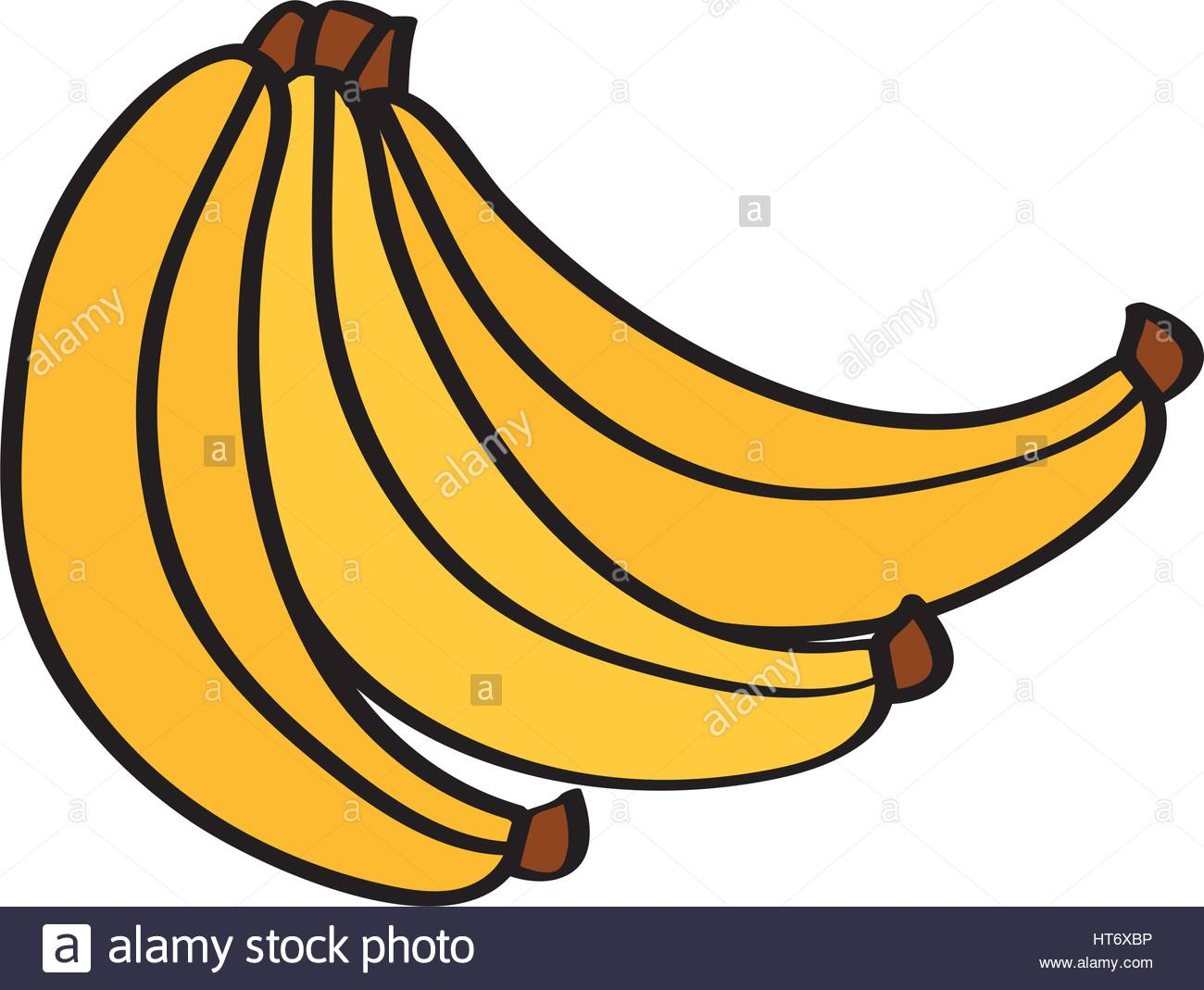 1300x1069 Banana Fresh Fruit Drawing Icon Stock Vector Art Amp Illustration