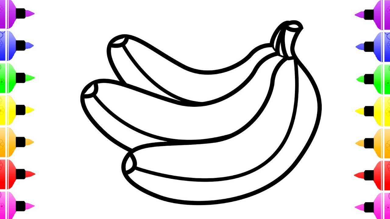 1280x720 How To Draw Banana For Baby