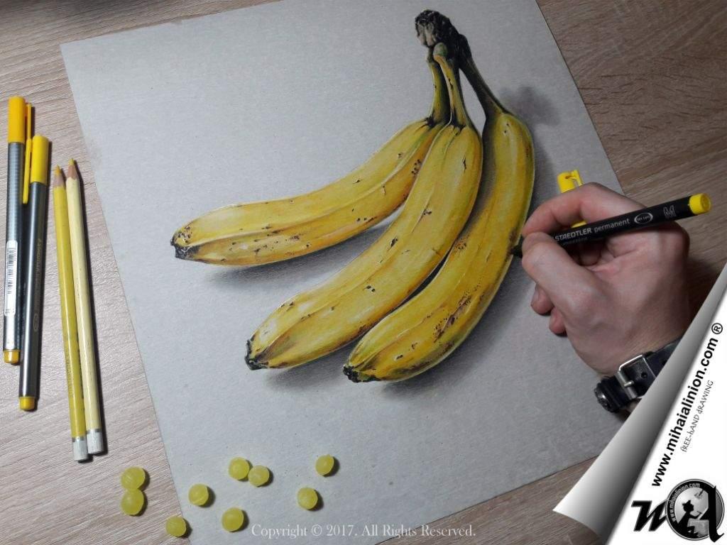 1024x768 Drawing Bananas