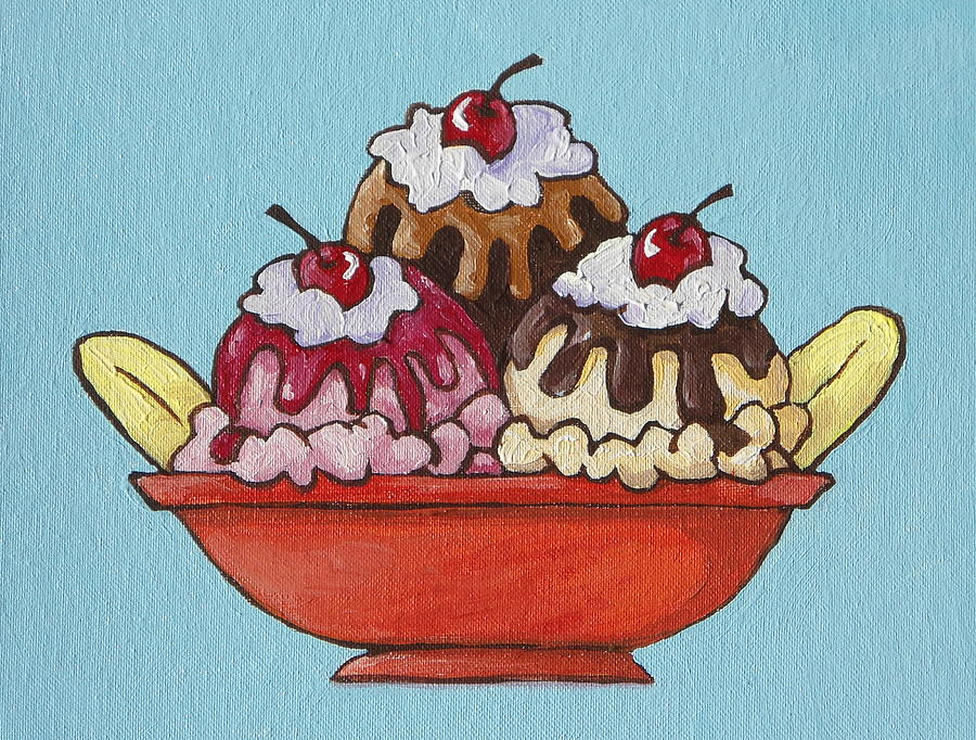 900x682 Banana Split Painting By Sandy Tracey