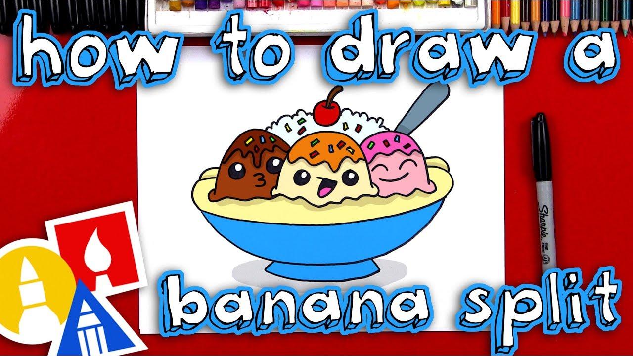 1280x720 How To Draw A Banana Split Cartoon