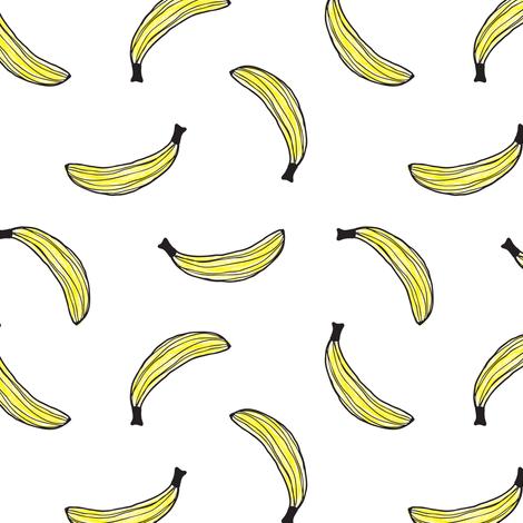 470x470 Banana Drawing Toss Fabric