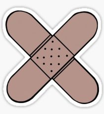 210x230 Band Aid Drawing Stickers Redbubble