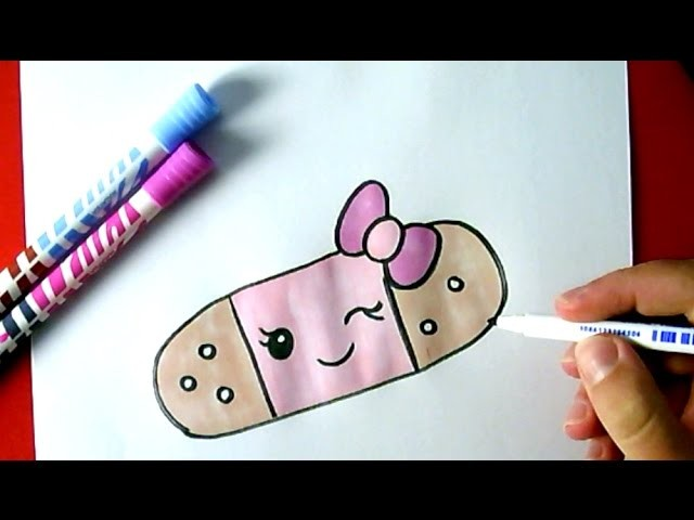 640x480 How To Draw A Cute Band Aid
