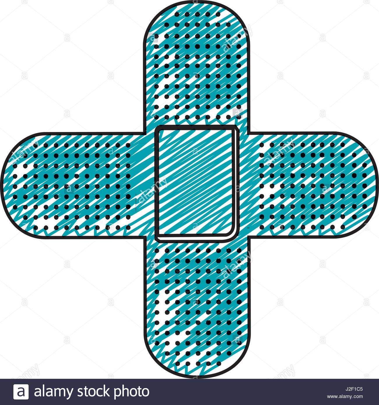 1300x1390 Color Pencil Drawing Of Band Aid In Shape Of Cross Stock Vector