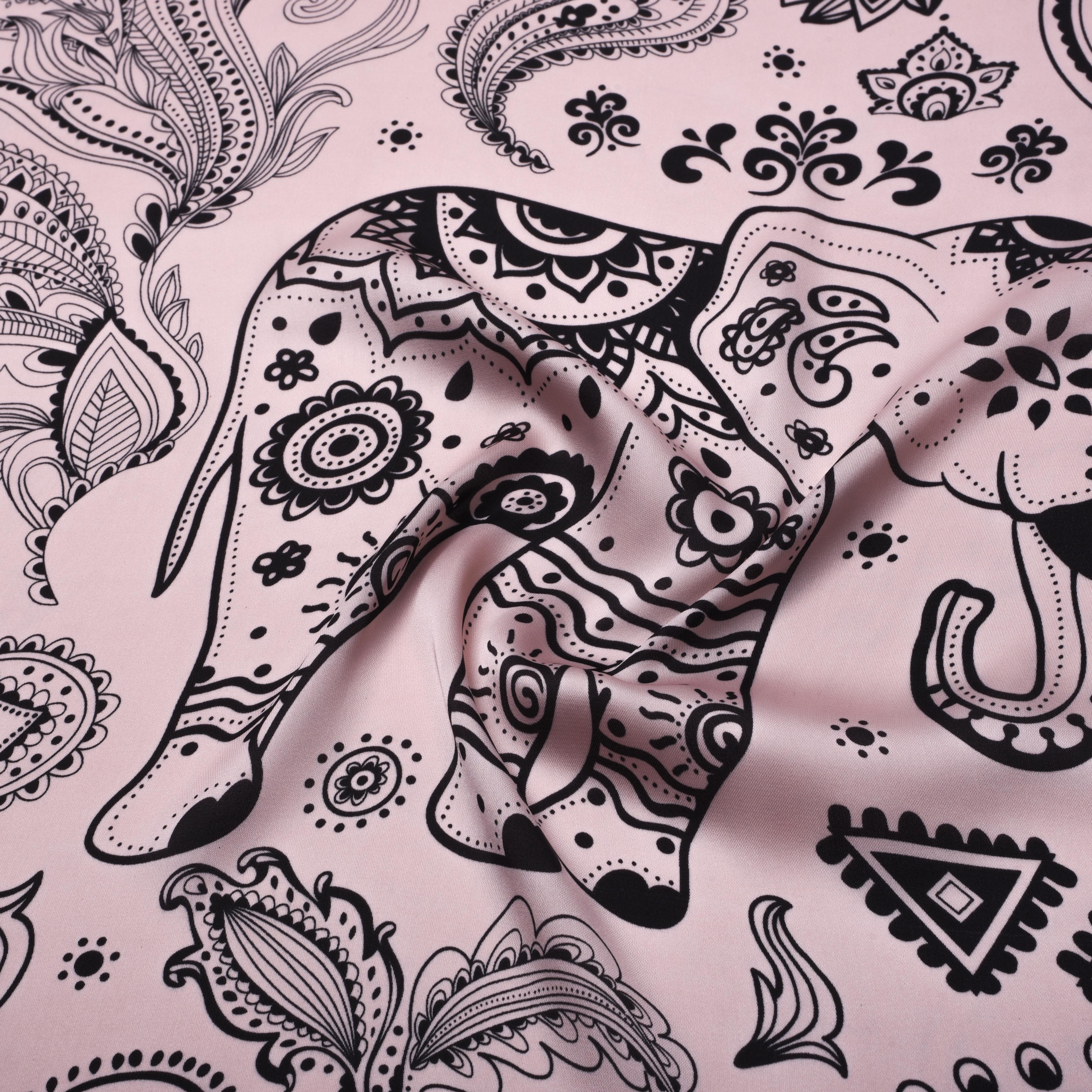 4016x4016 7575cm Silk Feeling Square Scarf Women Animal Elephent Pattern