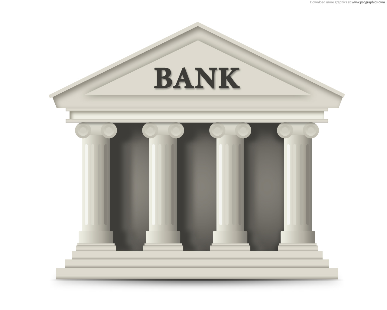 1280x1024 Bank Building Icon PSD PSDGraphics