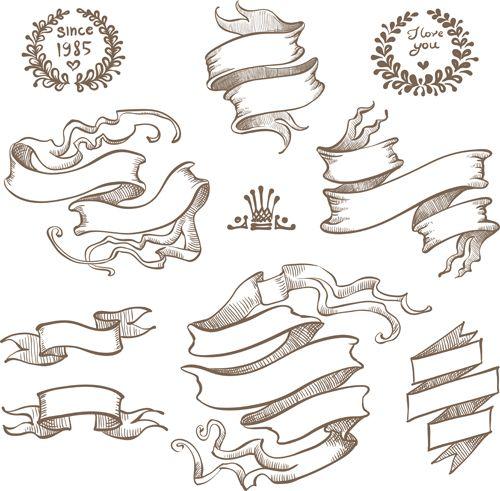 500x491 Ribbon Drawing