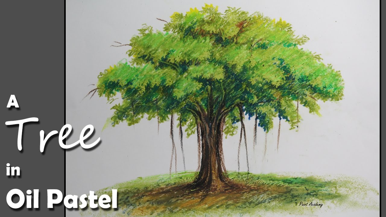 1280x720 How To Paint A Banyan Tree In Oil Pastel