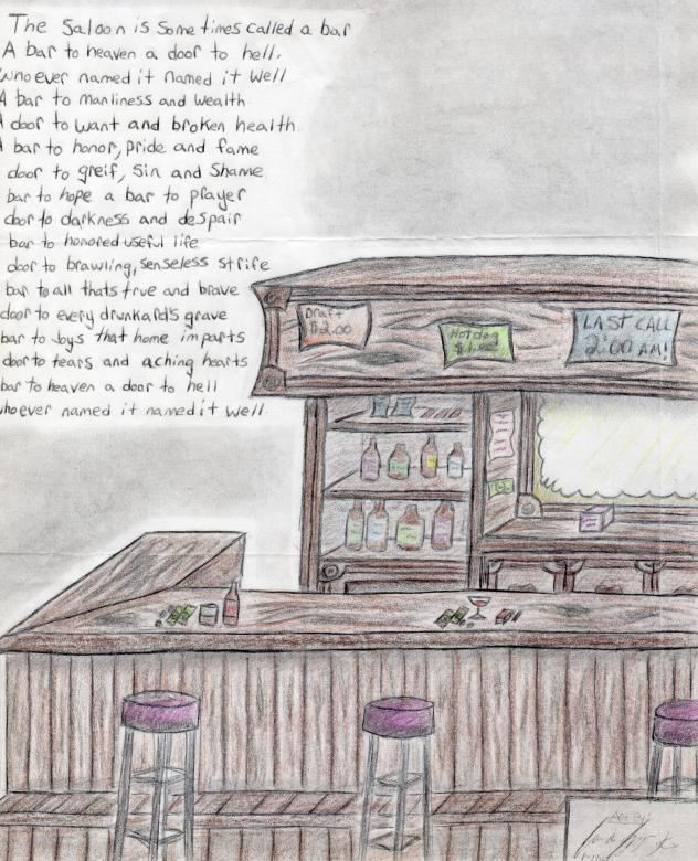632x780 Bar Drawing With Wise Words