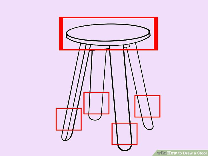 728x546 How To Draw A Stool 6 Steps (With Pictures)