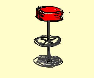 300x250 Red Bar Stool
