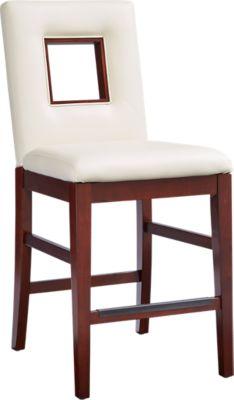 234x400 Sofia Vergara Savona Ivory Upholstered Counter Height Stool