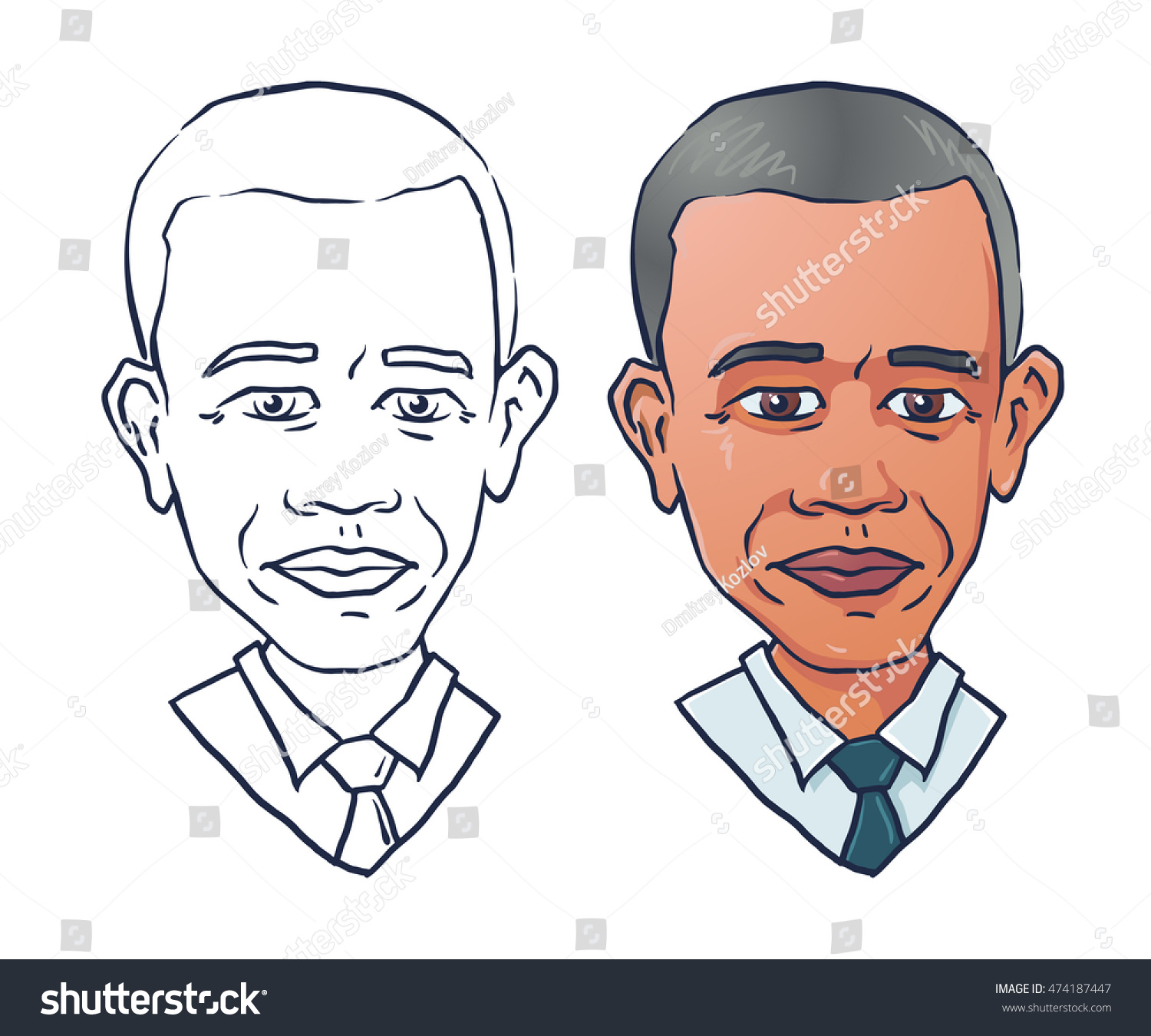 1500x1350 Cartoon Drawing Of Obama Cartoon Portrait United States President
