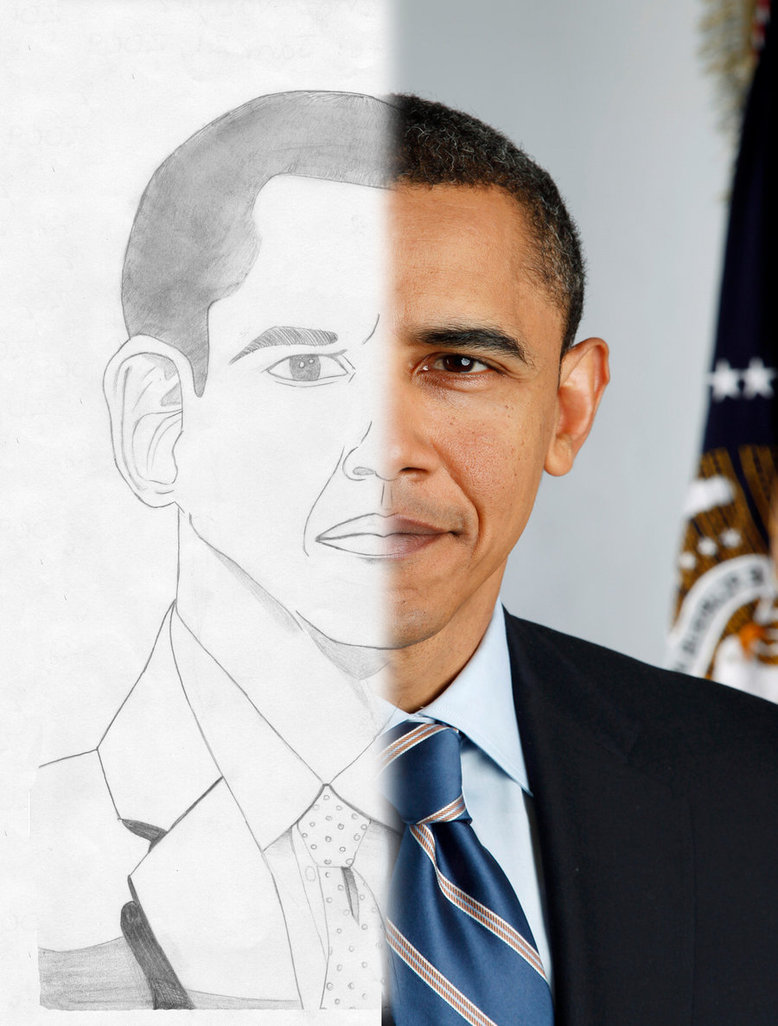 778x1026 Barack Obama Drawing