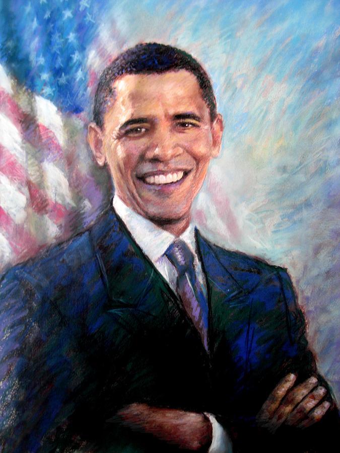 675x900 Barack Obama Drawing By Viola El