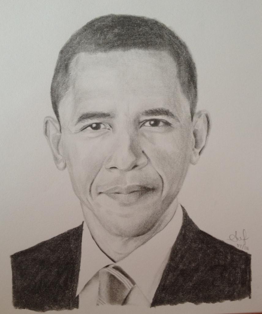 856x1024 Pencil Drawing Of Obama Pencil Portrait Barack Obama Alana Jean39s