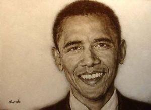 300x218 Ron Rundo President Barack Obama Original Painting Portrait Hand