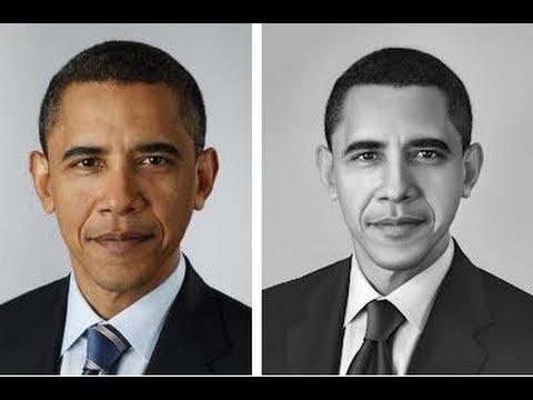 480x360 Simple Way To Draw Barack Obama