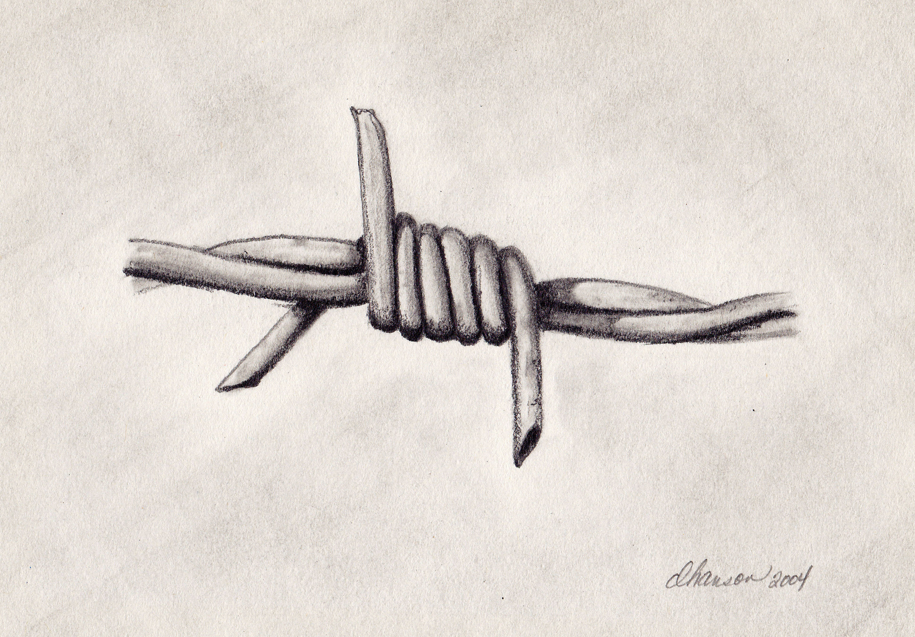 Barb Wire Drawing at GetDrawings.com | Free for personal use Barb ...