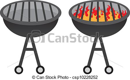 450x277 Barbecue Grill Grill With And Without Fire Clipart Vector