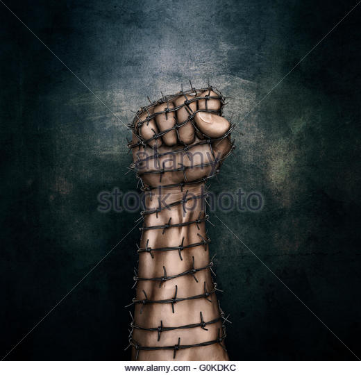 520x540 Barbed Wire Fist Stock Photos Amp Barbed Wire Fist Stock Images
