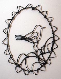 236x307 Wire Bird 6 Wire Drawing, Bird And Wire Art