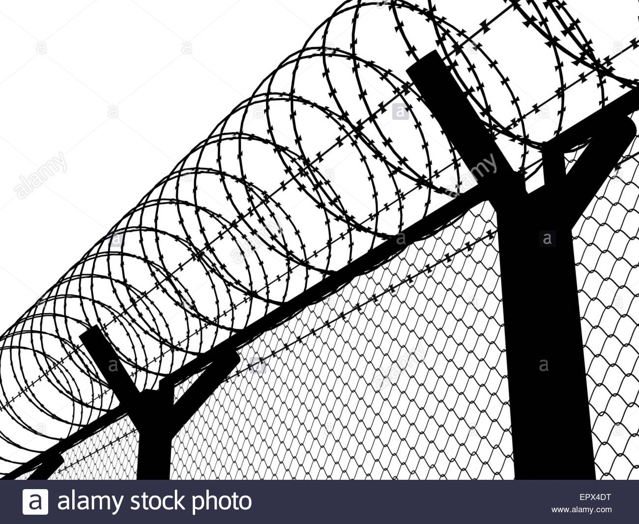 Barbed Wire Fence Drawing at GetDrawingscom Free for personal use