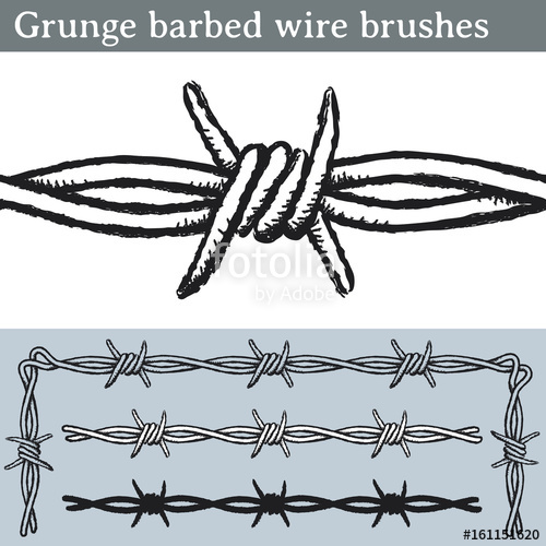 500x500 Grunge Barbed Wire Brushes. Brushes For Illustrator To Draw Barbed