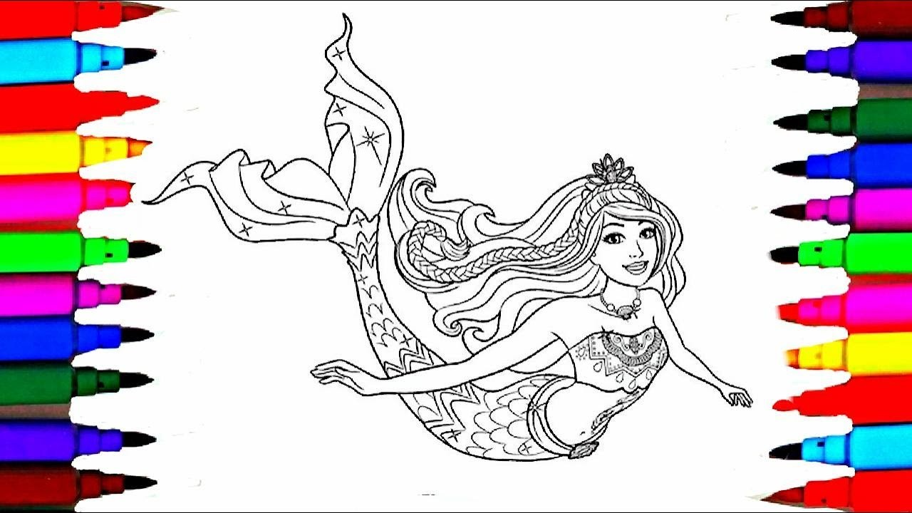 1280x720 Online Coloring Pages Of Mermaids Fresh Barbie Dreamtopia Coloring