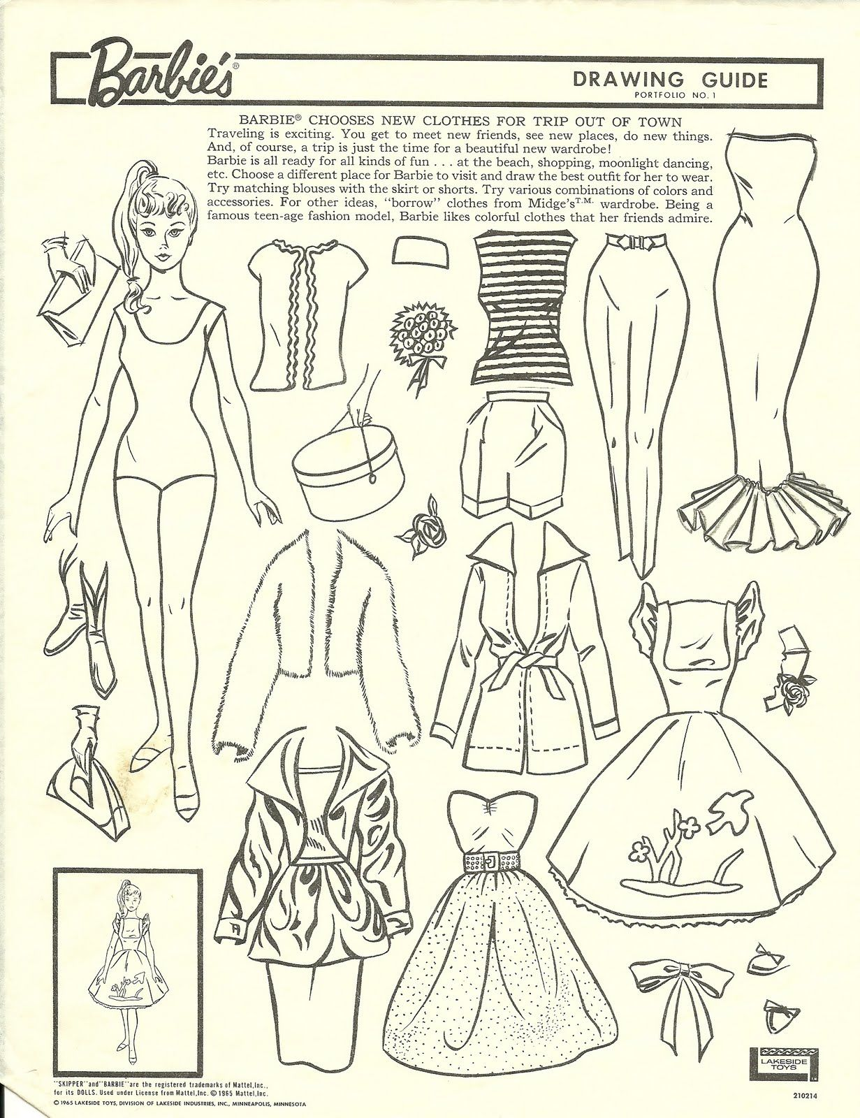 1231x1600 Barbie Chooses New Clothes For Trip Out Of Town Drawing Guide